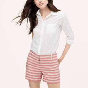 BEIGE/PINK STRIPED WALKING CASUAL DRESS SHORTS